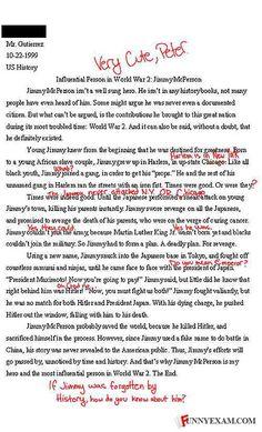 funny story essay