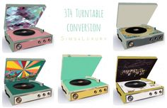Sims 4 Updates: Sims4 Luxury - Objects, Decor : 3T4 Turntable conversion, Custom Content Download!