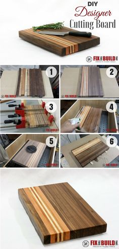 Check out how to make an easy DIY Designer Cutting Board @istandarddesign