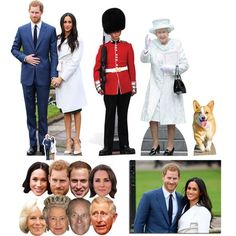 Our Gold Package of Royal Wedding 2018 party essentials contains a selection of 4 Royal cardboard cutouts, an 8 pack of Royal Family masks and commemorative photo! Free UK delivery and worldwide shipping. Royal Wedding Prince Harry, Meghan Markle Engagement, Life Size Cardboard Cutouts, Prince Harry And Meghan, Queen Elizabeth Ii, Duke And Duchess, Princess Diana, Kate Middleton, Lady Diana