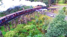 Puffing Billy by Drone - Victoria, Australia Phantom 3, Victoria Australia, Ranges, Places To See, Melbourne, Events, Top, Outdoor, Beautiful