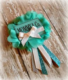 Tiffany's Themed Baby Shower Badge by EllieKattCollection on Etsy, $9.00