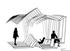 62 Ideas For Design Presentation Architecture Inspiration Architecture Pliage, Architecture Origami, Architecture Concept Drawings, Pavilion Architecture, Landscape Architecture, Interior Architecture, Landscape Design, Sustainable Architecture, Residential Architecture