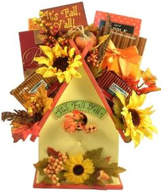 Fall Treats N Sweets Deluxe Fall Gift Basket -- Click on the image for additional details.