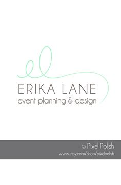 --- I like the simplicity and clean lines of this!--- Handwritten Initials Logo created for Erika Lane of Erika Lane Event Planning & Design Of Cumming, GA. Event Planning Quotes, Event Planning Checklist, Event Planning Business, Initials Logo, Business Names, Las Vegas, How To Plan, Erika, Clean Lines