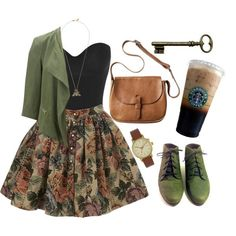 adorable outfit- didn't realize starbucks was that much of a fashion statement though