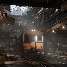 Train Market, by Michael Andreula - https://www.artstation.com/artwork/lla5e #SubstancePainter #ThisIsSubstance