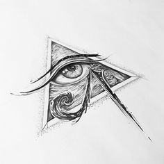 Custom eye of horus sketch. it's been awhile since I did a full pencil sketch, boy did I enjoyed it. #eye #of #ra #eyeofhorus #lines…