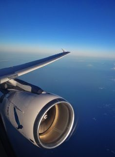 Taken in-flight SATA Internacional Airbus A320 (CS-TKK). The sun was setting down and the light on the CFM Engine was like this!  #TMPB
