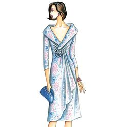 This elegant Marfy 3711 fitted dress pattern is part of Marfy's spring & summer 2015 collection. Vintage Outfits, Vintage Fashion, Fashion Figures, Vogue Sewing Patterns, Mode Vintage, Dress Patterns, Marfy Patterns, Fashion Sketches, Pattern Fashion