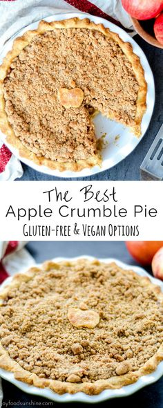 This 100% homemade Apple Crumble Pie recipe uses only a few ingredients so that the apples really shine! It's the perfect dessert for your Thanksgiving table!