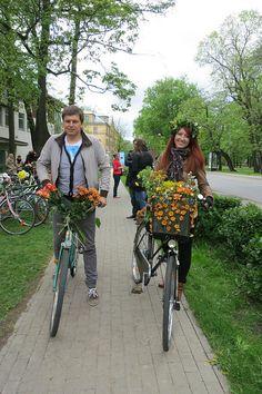 Riga Bicycle Flower Festival #latvia