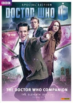 b0rn-to-bl0ssom:    Matt Smith, Karen Gillan & Arthur Darvill as The Doctor, Amy & Rory | Doctor Who Magazine Special Edition    Doctor Who Magazine takes you behind the scenes with an in-depth episode guide – including original storylines, deleted scenes, media appearances, ratings information and hundreds of facts about the day-to-day life of the making of Doctor Who – all illustrated with gorgeous, never-before-seen photos. Available from Thursday 20 December.