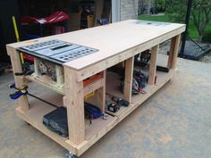 Mobile Woodworking Bench Plans | Home Design Ideas