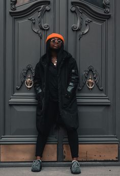 #tomboy #tomboystyle #tomboylook #blackgirlmagic #blackgirlsrock #blackgirlswag #beanie #beaniefashion #streetstyle #streetwear #streetwearstyle #melaninpoppin #melaninqueens #melaningram #orangestyle #orange #orangeaesthetic Black Girl Swag, Black Girls Rock, Black Girl Magic, Tomboy Fashion, Streetwear Fashion, Orange Beanie, Tomboy Look, Orange Aesthetic, Orange Fashion