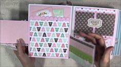 Baby Boy Mini Album and Part 1 Tutorial ~ Video Tutorial Baby Boy Scrapbook, Mini Scrapbook Albums, Scrapbook Paper, Mini Albums, Baby Mini Album, Mini Album Tutorial, Handmade Books, Handmade Cards, Mini Photo
