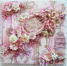 Mixed Media Canvas using Lots of Prima by Phyllis