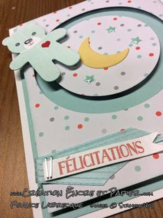 Stampin'Up! Carte Bébé Baby Card Framelits Étoile coulissante Sliding Star Framelits Perforatrice Emporte-pièce de Noël Cookie Cutter Punch www.creationencreetpapier.com