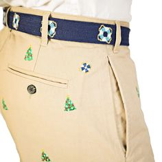 Mariner Pants in British Khaki with Christmas Tree by Castaway Clothing  - 2