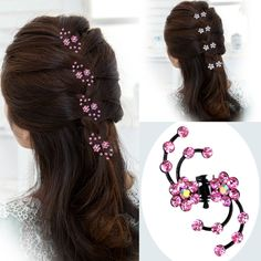 Cheap accessories nautical, Buy Quality hairpins wedding directly from China accessories opel Suppliers: Fashion Girls Crystal Snowflake Hair Clips Hair Pins Headwear Crystal Hair Ornaments Accessories Hairpins Barrettes Claw Hair Clips, Hair Claw, Flower Hair Clips, Flowers In Hair, Bridal Hair Buns, Bridal Hairdo, Fascinator, Fashion Pattern, Hair Decorations
