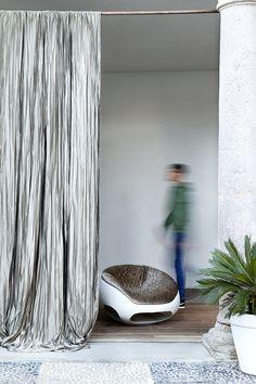 Christian Fischbacher fabrics, Collezione Italia. ATLAS PLISSE