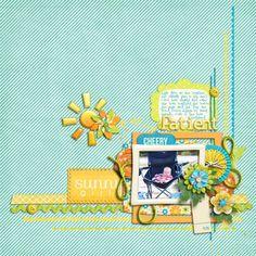 Digital Scrapbook Layout by Bethie | Create Your Own Sunshine Kit | Bella Gypsy Designs.