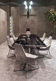 table and chairs by longhi.it
