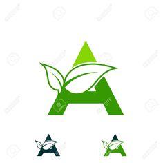 Illustration of letter A logo concept, nature green leaf symbol, initials A icon design vector art, clipart and stock vectors. Letterhead Design, Branding Design, Logo Design Inspiration, Icon Design, Vector Verde, Ar Logo, Leaf Symbol, Buddha Drawing, Picsart Png
