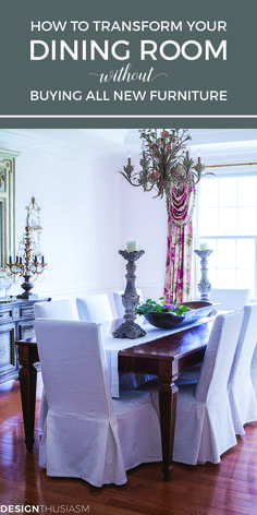 Looking to update your dining room decor without buying all new furniture? These dining room ideas will help transform your space into an elegant dining room on a budget.