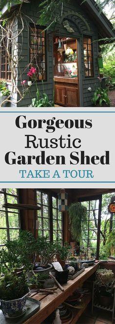 Gorgeous Rustic Garden Shed - Take a Tour