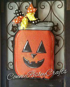 Fall pumpkin  mason jar