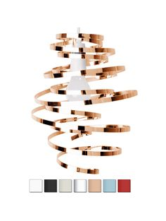 Modern Metal Twisted Spiral Pendant Shade with Painted Gloss Finish - Valuelights