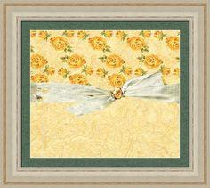 Vintage Yellow Roses Framed Print