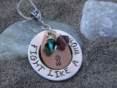 hand stamped jewelry,hand stamped necklace,personalized jewelry,custom jewelry,mothers necklace,cancer,cancer survivor,fight like a mom,breast cancer,