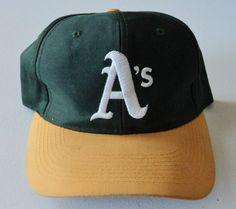 Vintage Oakland A s Logo 7 Snapback Hat MLB VTG 70a9eff38544