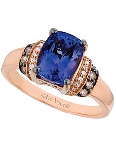 Le Vian Tanzanite (2 ct. t.w.) and Diamond (1/5 ct. t.w.) Ring in 14k Rose Gold