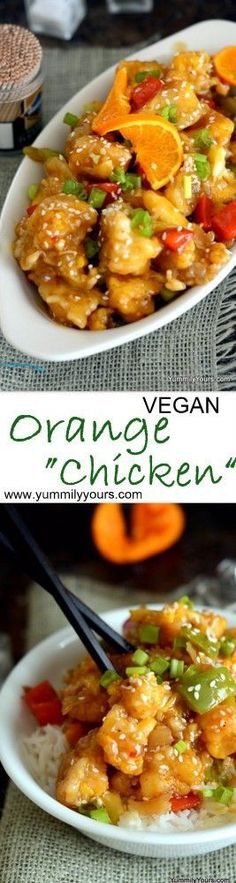 So much more lighter and healthier than orange chicken my family had no clue it was cauliflower! (a