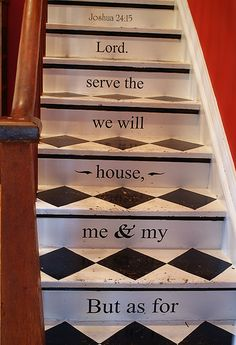 harlequin painted stairs, But as for me and my house