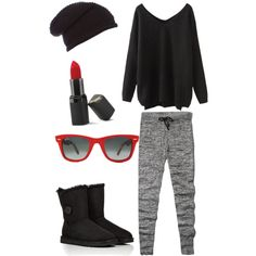 A fashion look from November 2014 featuring Abercrombie & Fitch leggings, UGG Australia boots and Label Lab hats. Browse and shop related looks.
