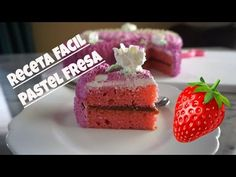 Pastel De Fresa Facil! - YouTube