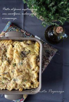 Pasta al forno veg con cavolfiori, melanzane e crescenza