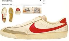 White with the red swoosh, or white with the blue.  Those were your only two choices.  And really, who would choose the blue? Old Nike Shoes, Nike Soccer, Soccer Shoes, Nike Retro, Vintage Sneakers, Vintage Shoes, White Nikes, Nike Cortez, New Sneakers