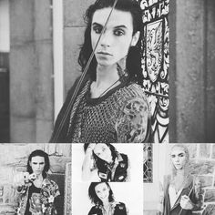Andy Biersack looking gorgeous at the dollskill photoshoot