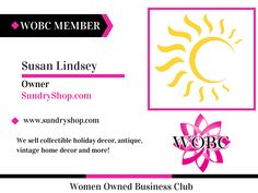 WOBC Member : Susan Lindsey - Owner - SundryShop.com