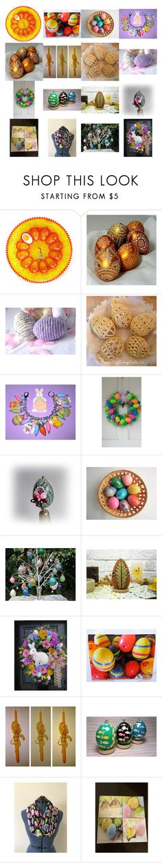 An Etsy Easter Egg-stravaganza by kateduvall on Polyvore featuring interior, interiors, interior design, home, home decor, interior decorating and vintage