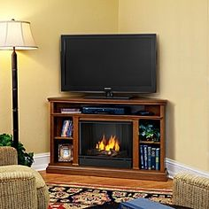48inch bardwood corner fireplace tv stand shopping the best