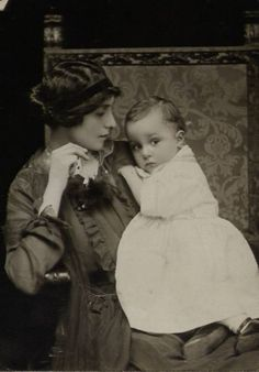 Mother And Child. Love old pictures!