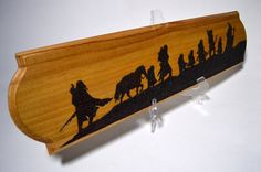 Fellowship of the Ring Lord of the Rings Wood Burning Pyrography