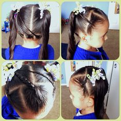 Simple hair style for little girls