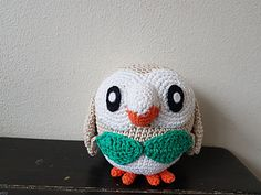 Rowlett (pokemon) For this pattern i used cotton and hooksize 2.5 mm